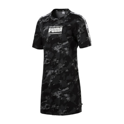 Puma Short Sleeve Camouflage T-Shirt Dresses
