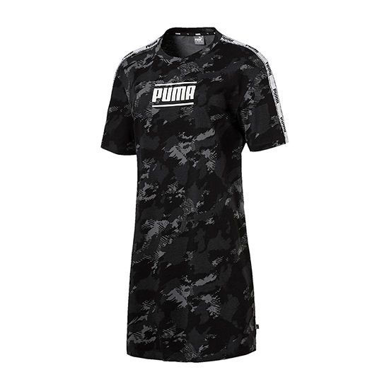 Puma Short Sleeve Camouflage T-Shirt Dresses