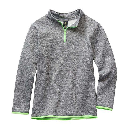 Xersion Little & Big Boys Long Sleeve Quarter-Zip Pullover