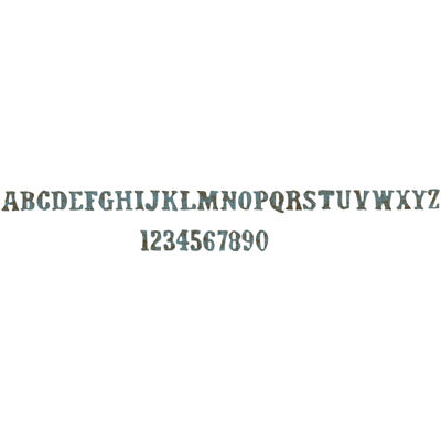 Sizzix® Sizzlits Decorative Strip Die By Tim Holtz® Vintage Market Alphabet