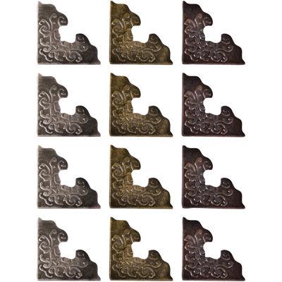 "Tim Holtz® Idea-Ology 12-pk. 1"" Corners – Antique Nickel, Brass & Copper"