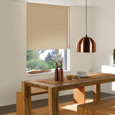 Carmel Custom Fringed Roller Shade - FREE SWATCH