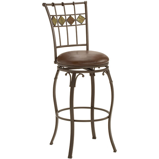 Lakeview Swivel Barstool with Slate Back