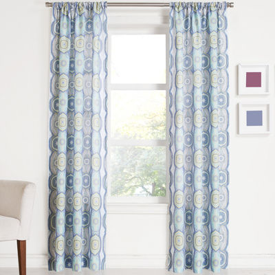 Tessa Medallion Rod-Pocket Curtain Panel