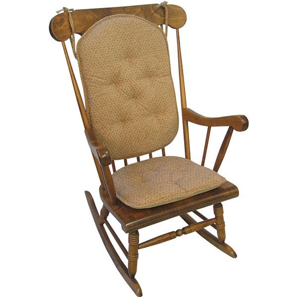 Klear Vu Raindrops Gripper  Pc Rocker Chair Cushion Set