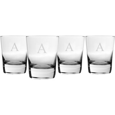 Set of 4 Engravable Double Old-Fashioned Glasses