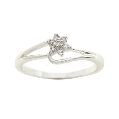 the skinny® Cubic Zirconia Flower Bypass Ring