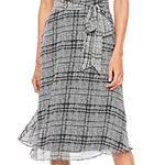 R & K Originals Sleeveless Plaid Midi Fit & Flare Dress