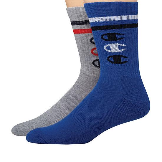 Champion 2 Pair Crew Socks-Mens
