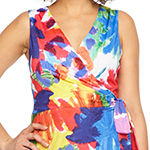 Ronni Nicole Sleeveless Abstract Maxi Dress