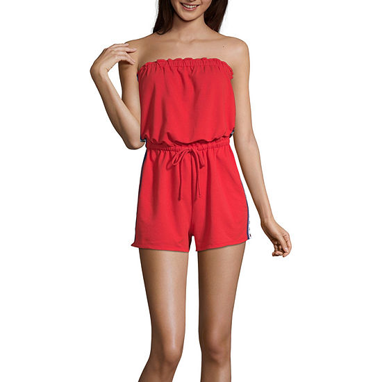 Flirtitude Sleeveless Romper-Juniors