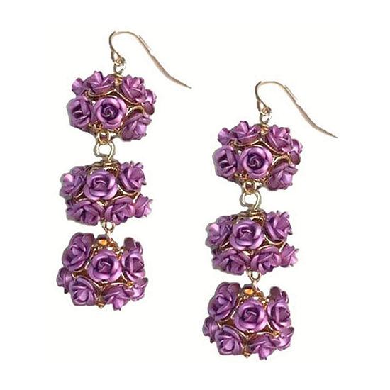 Bijoux Bar Purple Drop Earrings