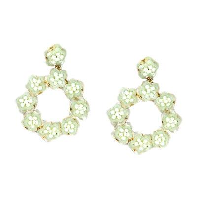 Bijoux Bar White Drop Earrings
