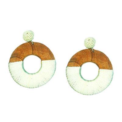 Bijoux Bar 3 Inch Hoop Earrings