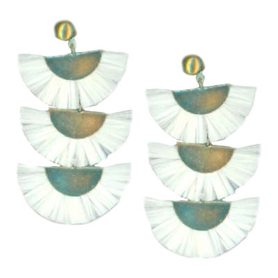 Bijoux Bar White Chandelier Earrings