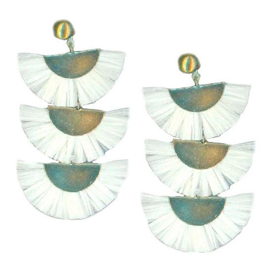 Bijoux Bar White Chandelier Earrings