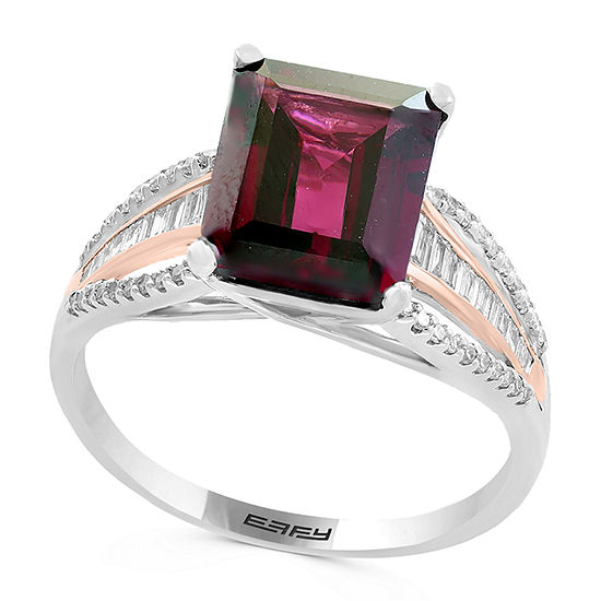 LIMITED QUANTITIES! Effy Final Call Womens 1/4 CT. T.W. Genuine Brown Rhodolite 14K Rose Gold Cocktail Ring