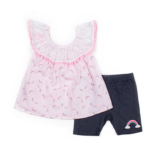 Little Lass Girls 2-pc. Short Set Baby