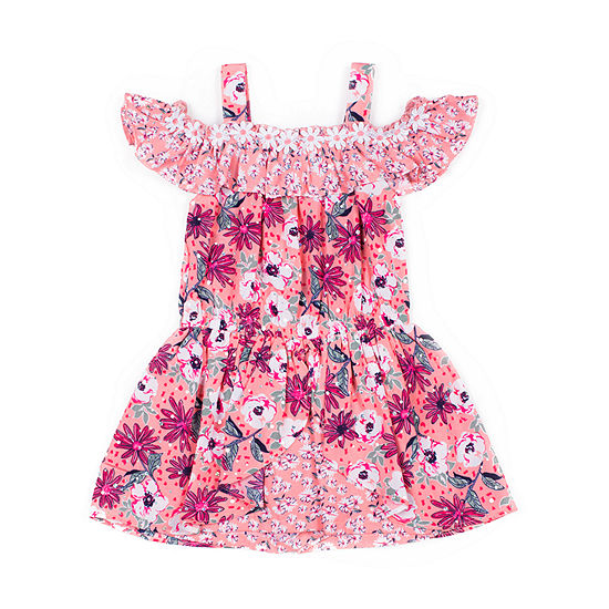 Little Lass Girls Short Sleeve Romper - Baby