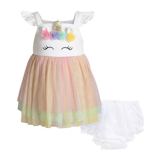 Young Land Unicorn Girls Sleeveless Tutu Dress - Baby