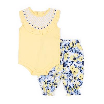 Little Lass 2-pc. Pant Set Girls
