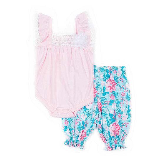 Little Lass  Culottes 2-pc. Pant Set Baby Girls