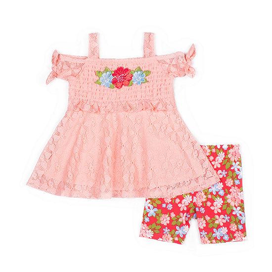 Little Lass Baby Girls 2-pc. Short Set