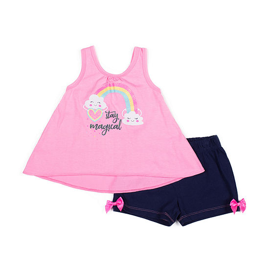 Little Lass 2 Pc Short Set Baby Girls