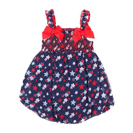 Little Lass Girls Sleeveless Romper - Baby