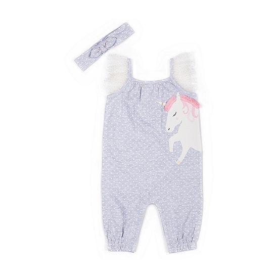 Little Lass 2-pc. Girls Jumpsuit - Baby