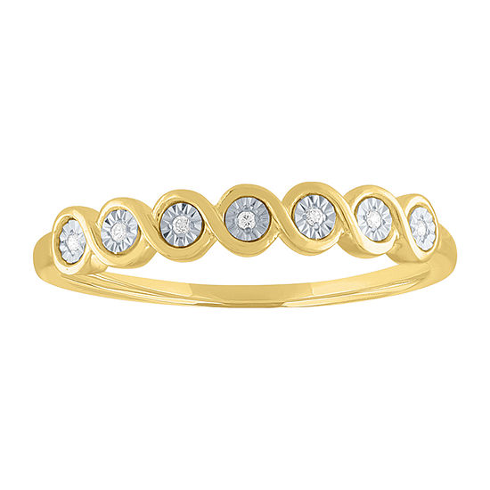Womens Diamond Accent Genuine Diamond 10K Gold Band