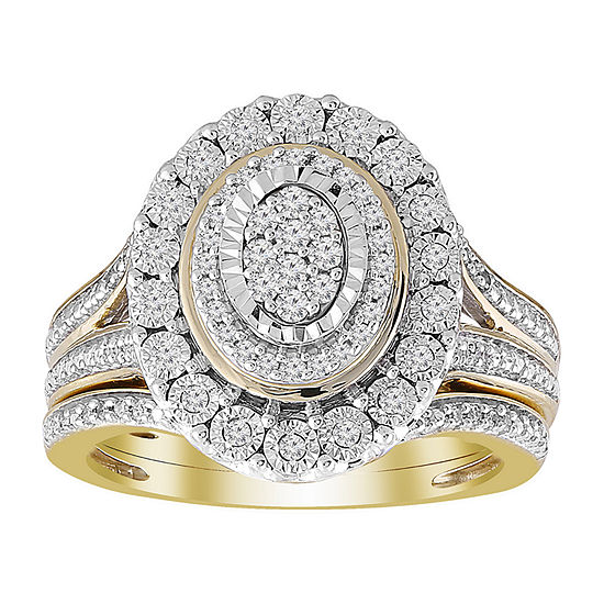 Womens 1/3 CT. T.W. White Diamond 10K Gold Bridal Set