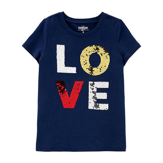 Oshkosh Girls Short Sleeve T-Shirt-Preschool