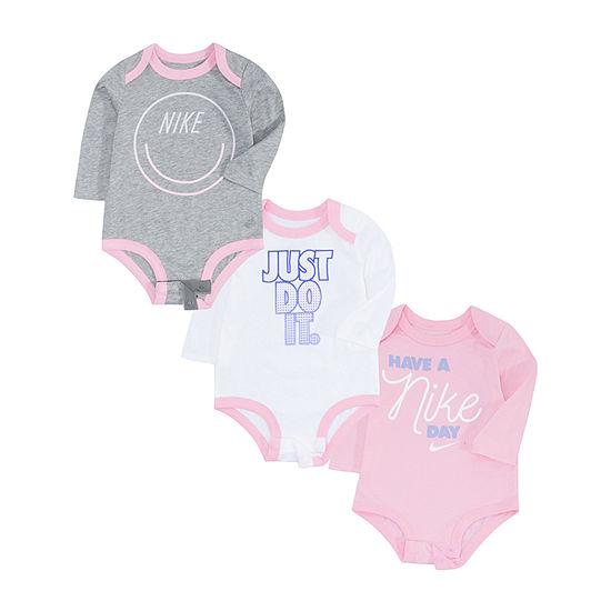 Nike Baby Girls 3-pc. Bodysuit