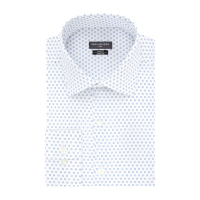 Van Heusen Flex Collar Mens Spread Collar Long Sleeve Stretch Dress Shirt - Super Slim