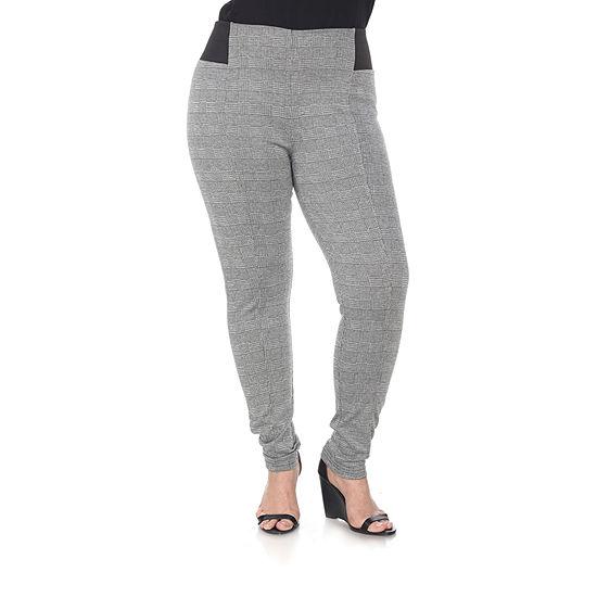 White Mark Womens Mid Rise Slim Pant-Plus