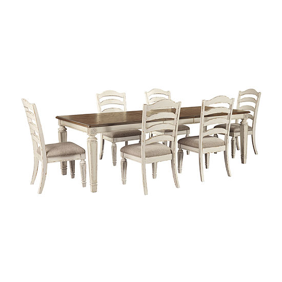 Signature Design by Ashley® Realyn 7-Piece Extension  Dining Table Set
