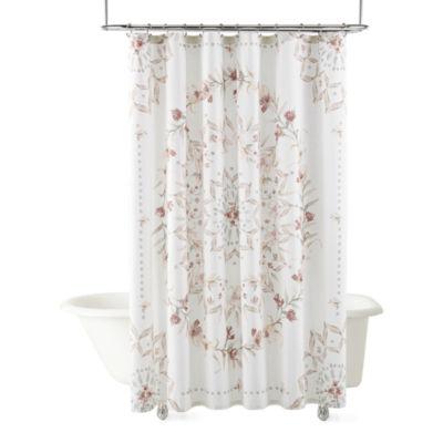 Linden Street Cottage Core Printed Medallion Shower Curtain