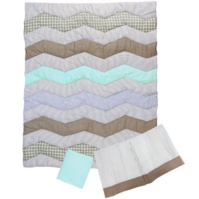 Trend Lab® Cocoa Mint 3-pc. Baby Bedding