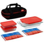 Pyrex Portables  Pc Double Decker Set