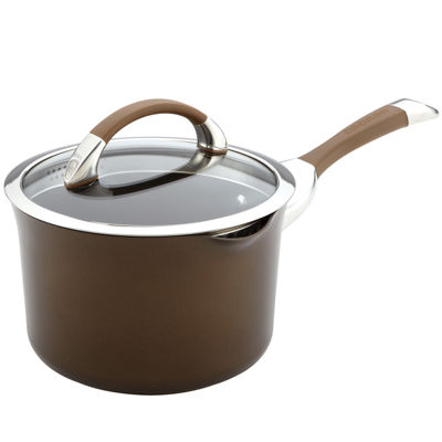 Circulon® Symmetry Hard-Anodized 3½-qt. Nonstick Straining Saucepan