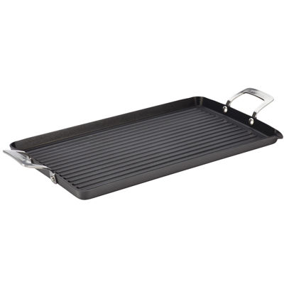 "Circulon® Hard-Anodized 18x10"" Double-Burner Griddle"