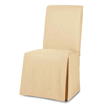 Cotton Duck Dining Chair Slipcover, Jcpenney Dining Room Chair Covers