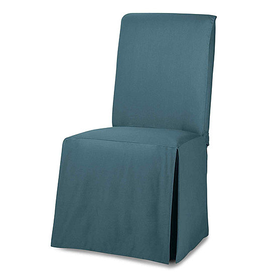 Outstanding Sure Fit Cotton Duck Dining Chair Slipcover Long Cjindustries Chair Design For Home Cjindustriesco