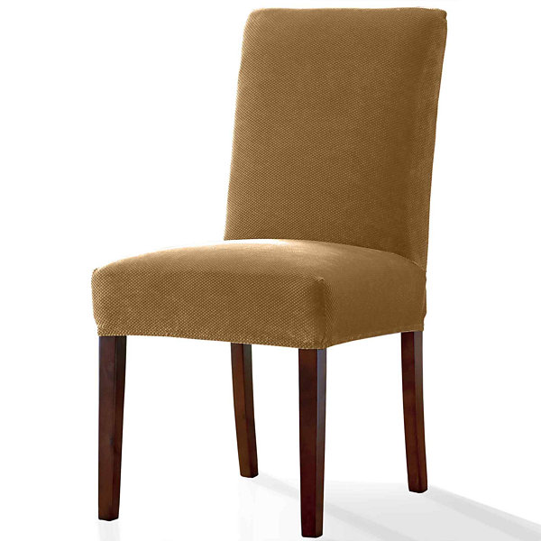 SURE FIT Stretch Pique Dining Chair Slipcover Short