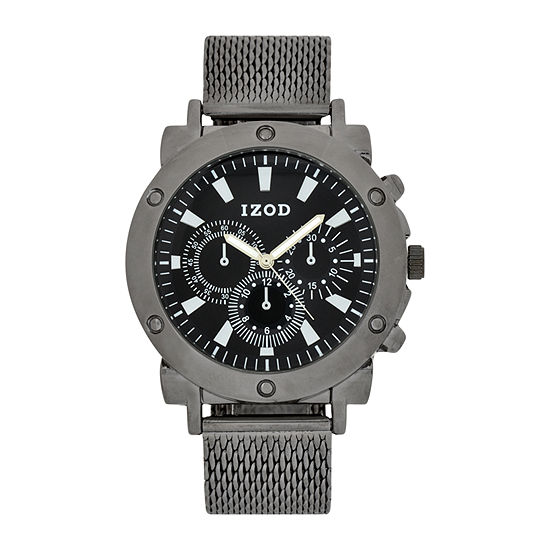 IZOD Mens Black Bracelet Watch - Izo5078jc