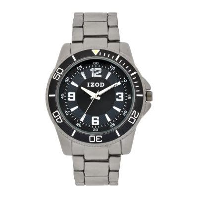 IZOD Mens Black Bracelet Watch-Izo5155jc