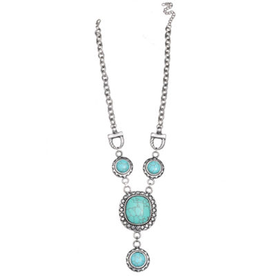Mixit™ Blue Stone Silver-Tone Necklace