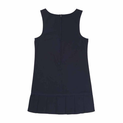 French Toast Sleeveless Pleated Hem Jumper - Preschool Girls