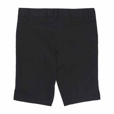 French Toast Adjustable Waist Slim Fit Twill Bermuda Shorts - Preschool Girls